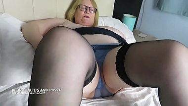 Sally loves to play and show off pussy