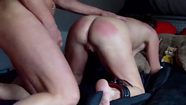 Fucked after caning