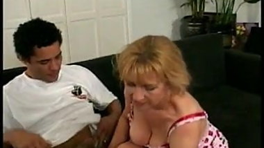 Horny granny opts for big cock