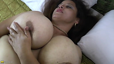 Busty natural mature mom needs a good fuck