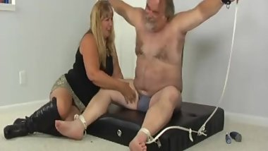 stupid old fat men tickle feet torture