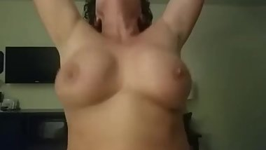 Mature hotwife riding cock