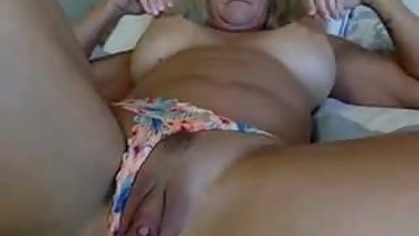 Granny plays toys webcam solo