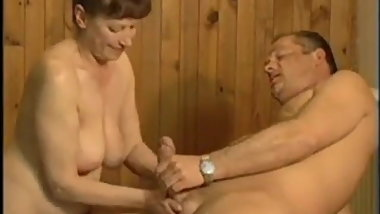 Lovely German Granny Fucked in Sauna