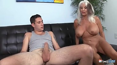 Sally D Angelo Helps Her StepGrandson Learn The Art Of Fucking