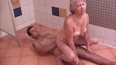 Cum swallowing granny